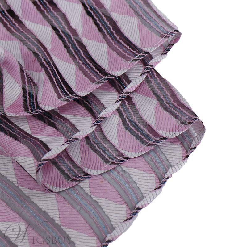 Chiffon National Style Sheer Stripe Colours Scarf