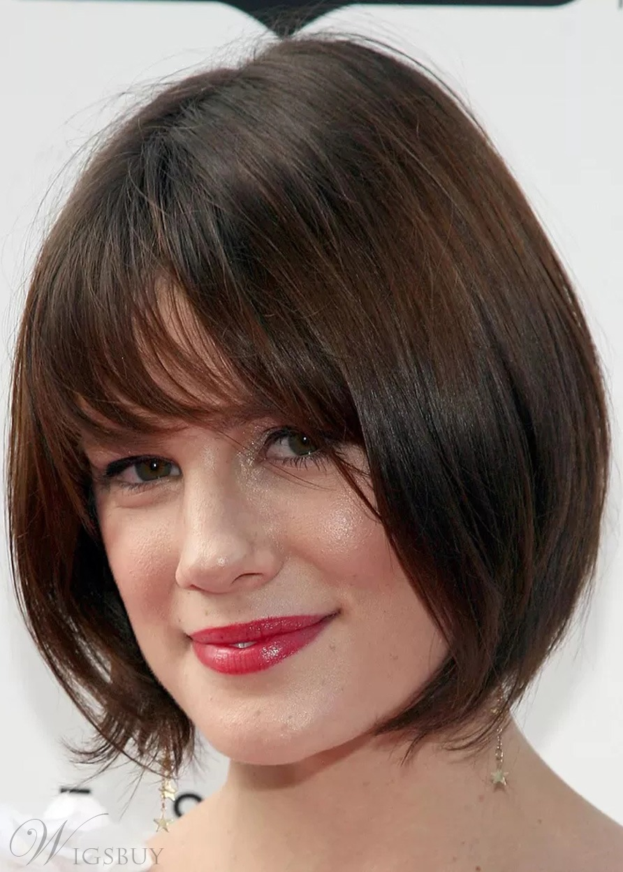 Attractive Short And Straight 100% Human Hair Capless Wigs 14 Inches