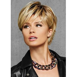Bob Style Lace Front 100% Real Human Hair Short Straight Wig 8Inch