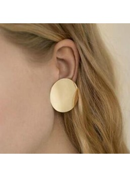 Alloy Round Earrings