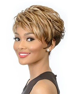 Brown Wigs for Women Short Straight Hair Wig Synthetic Lace Front Wigs 12inch
