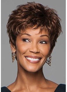 Dark Brown Wig Synthetic Wigs For Women Natural Straight Capless Wigs 10inch