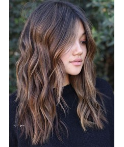 Sexy Women's Long Bob Lace Front Wigs Wavy Synthetic Hair Wig 24inch