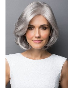 Short Straight Mid-Part Synthetic Hair Wigs 613 Blonde Color Capless Wigs 14inch