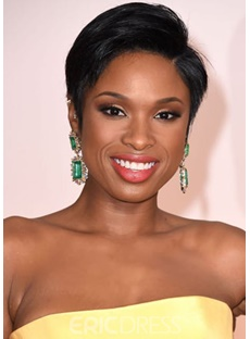 Short Pixie Straight Wigs 100% Human Hair Wigs Lace Front Wigs 8inch