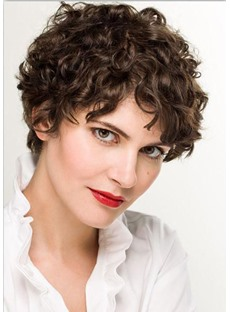 100% Short Human Hair Wig Curly Hair Wigs Lace Front Wig 10inch