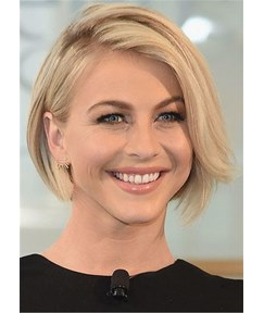 Short Bob Side Part Synthetic Natural Straight Hair Wig 14 Inches