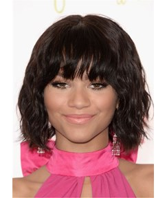 Zendaya Coleman Hair Cut Synthetic Wavy Hair Wig14 Inches