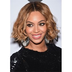Beyonce Cute Short Hair Style Synthetic Wavy Wig 12 Inches