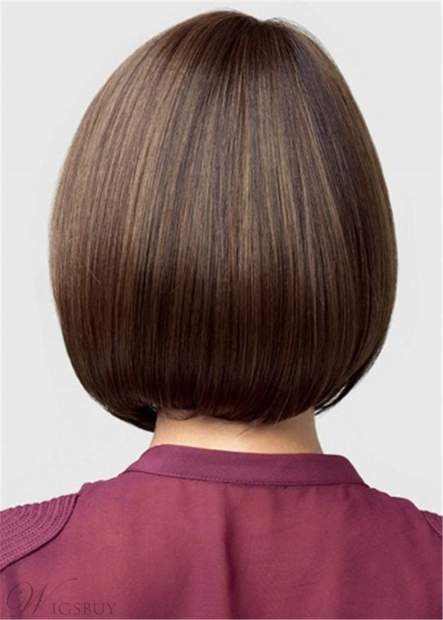 Center Part Medium Straight Synthetic Hair Wig 14 Inches