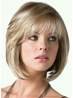 Women's Short Bob Style Straight Human Hair Wigs Full Capless Wigs 14inch