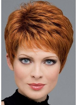 Women's Short Length Straight Synthetic Hair Wigs Lace Front Cap Wigs 12inch
