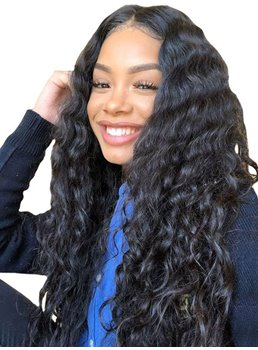 Freestyle Hair Parting Women.s Long Length Curly Synthetic Hair Lace Front Wigs 26Inches