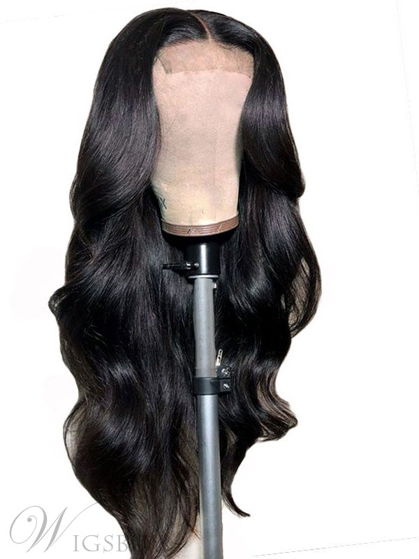 African American Long Wavy Lace Front Synthetic Hair Wig 24 Inches