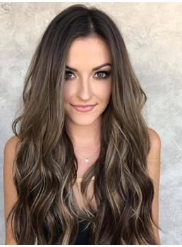 Long Wavy Synthetic Hair Lace Front Wig 26 Inches