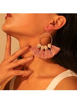 Tassels Shell Hoop Earrings