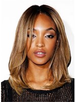 Medium Bob Straight Synthetic Hair Women Capless Wig 16 Inches