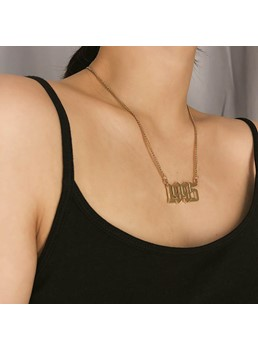 1995 Letter Alloy Necklace