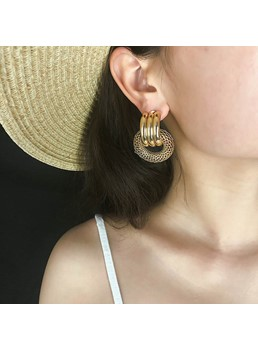 Hoop Alloy Stud Earrings For Female