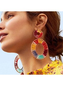 Colour Hoop Women Earrings