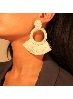 Color Tassels Fashion Earrings