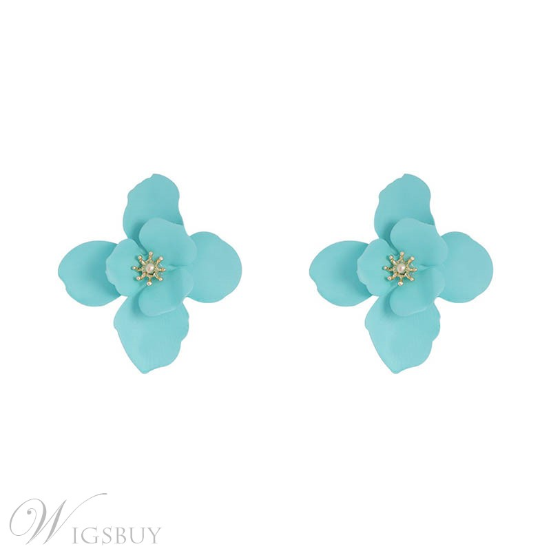 Colour Flower Earrings
