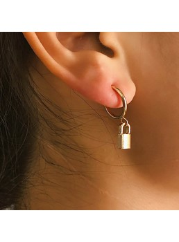 Golden Lock Earrings