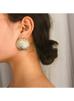 Shell Alloy Women Earrings