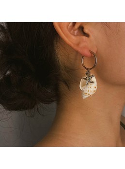 Shell Alloy Earrings