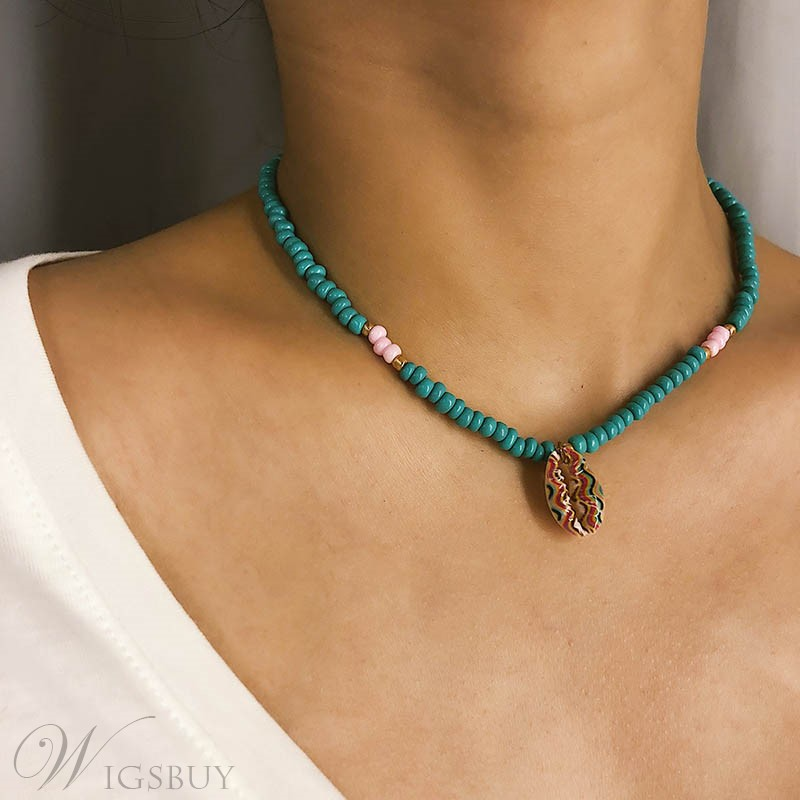 Hand Beaded Clavicle Necklace