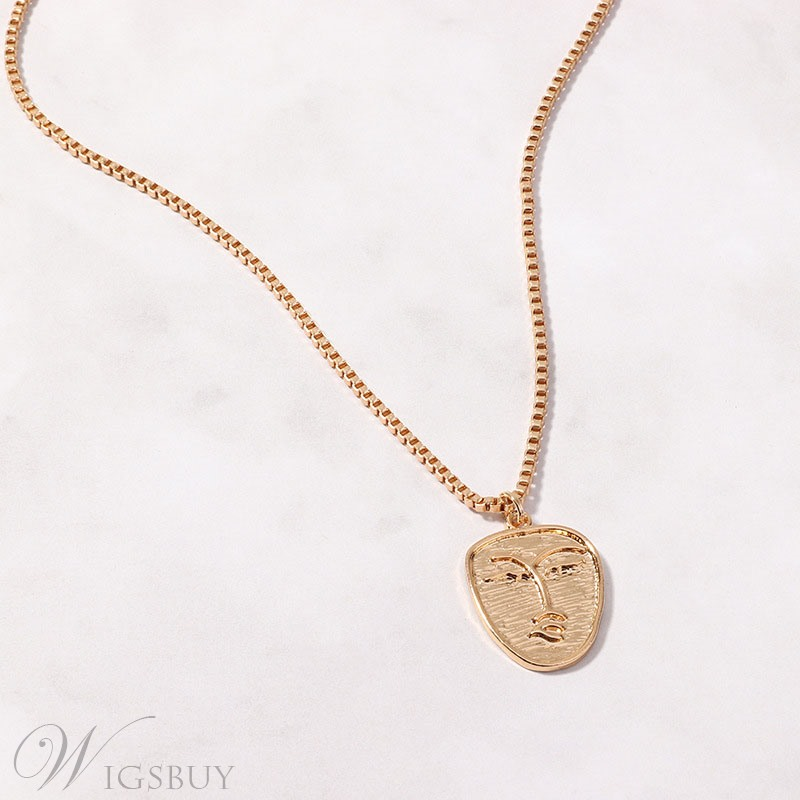 Face Alloy Necklace