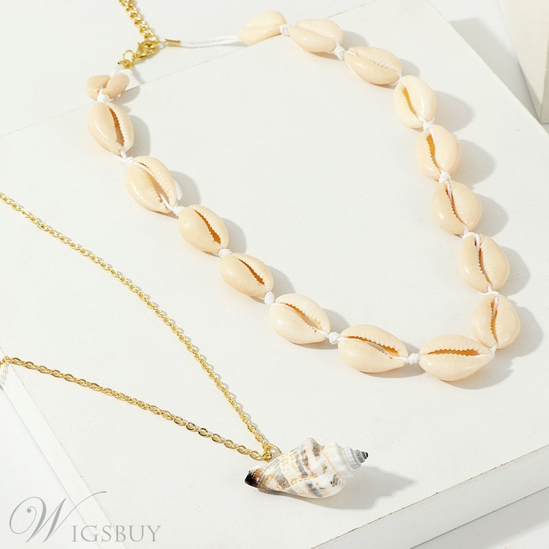 Shell Double Deck Necklace