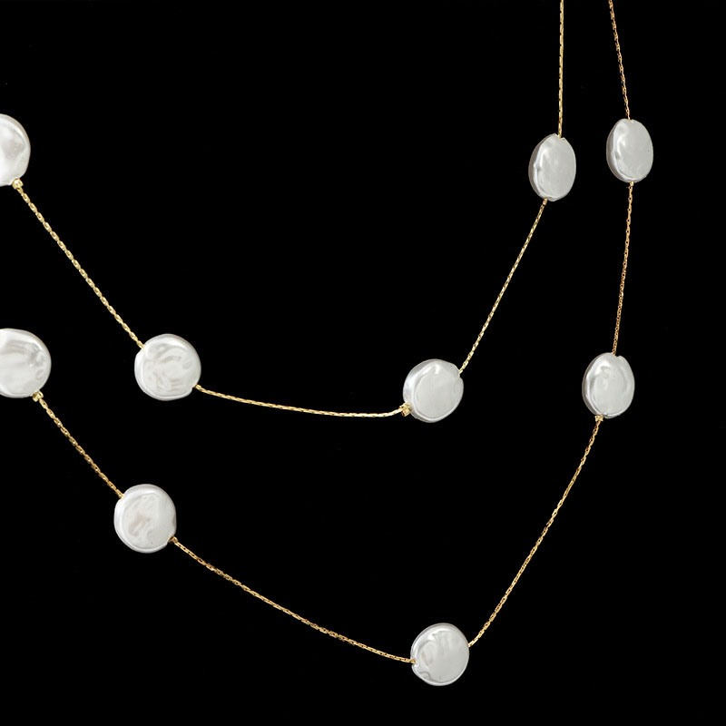 Pearl Double Deck Necklace