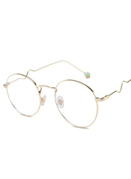 Wavy Leg Frame Anti-Blue Flat Mirror Glasses