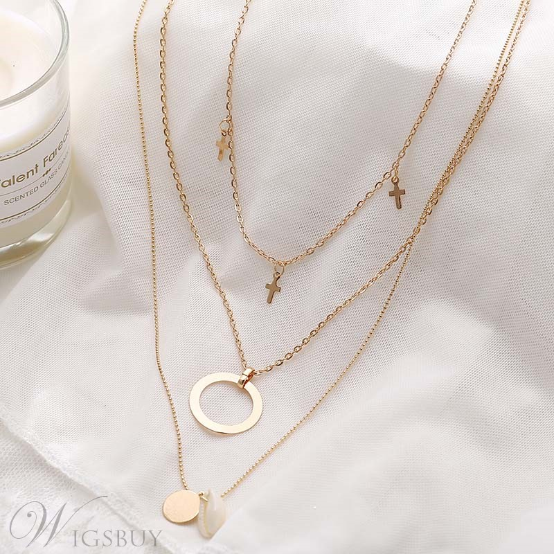 Hoop Alloy Bohemian Style Fashion Necklace