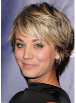 Katy Perry Style Women's Short Shaggy Straight Synthetic Hair Capless Wigs 12inch
