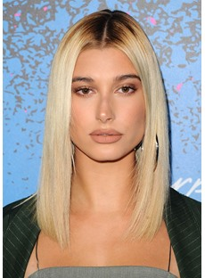 Hailey Baldwin Hairstyle Women's Straight Synthetic Hair Wigs Long Lace Front Wigs 20inch
