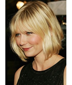 Natural Looking Medium Length Hairstyles Women's Straight Synthetic Hair Capless Wigs 14inch