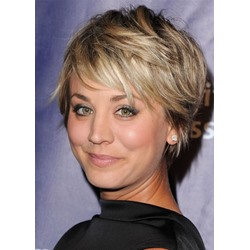 Katy Perry Style Womens Short Shaggy Straight Synthetic Hair Capless Wigs 12inch