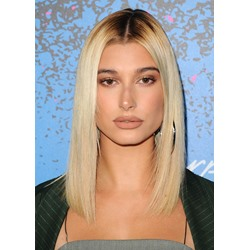 Hailey Baldwin Hairstyle Womens Straight Synthetic Hair Wigs Long Lace Front Wigs 20inch