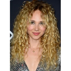 100% Human Hair Womens Long Blonde Curly Hair Wigs Lace Front Wigs 24inch