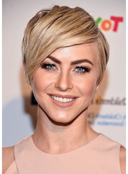 Natural Looking Pixie Cut Women's Straight Synthetic Hair Lace Front Wigs 10inch