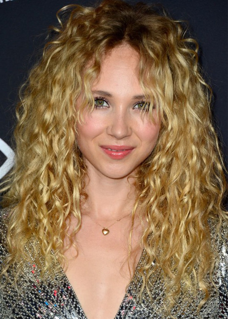 100% Human Hair Women's Long Blonde Curly Hair Wigs Lace Front Wigs 24inch