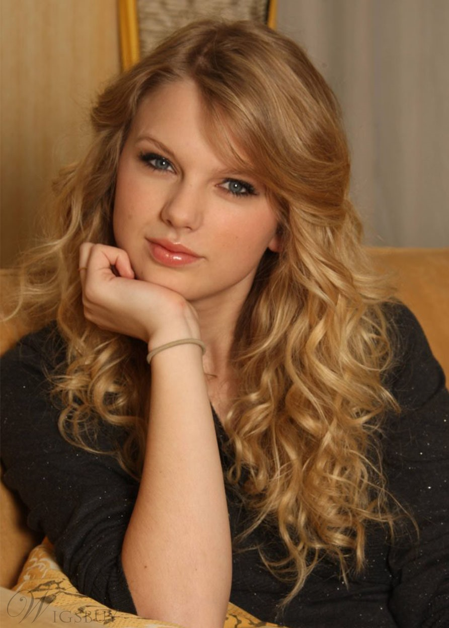 Taylor Swift Hairstyle Sexy Women's Wavy Long Synthetic Hair Wigs Capless Wigs 26inch