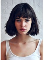 Short Bob Natural Straight Synthetic Hair Wig 12 Inches
