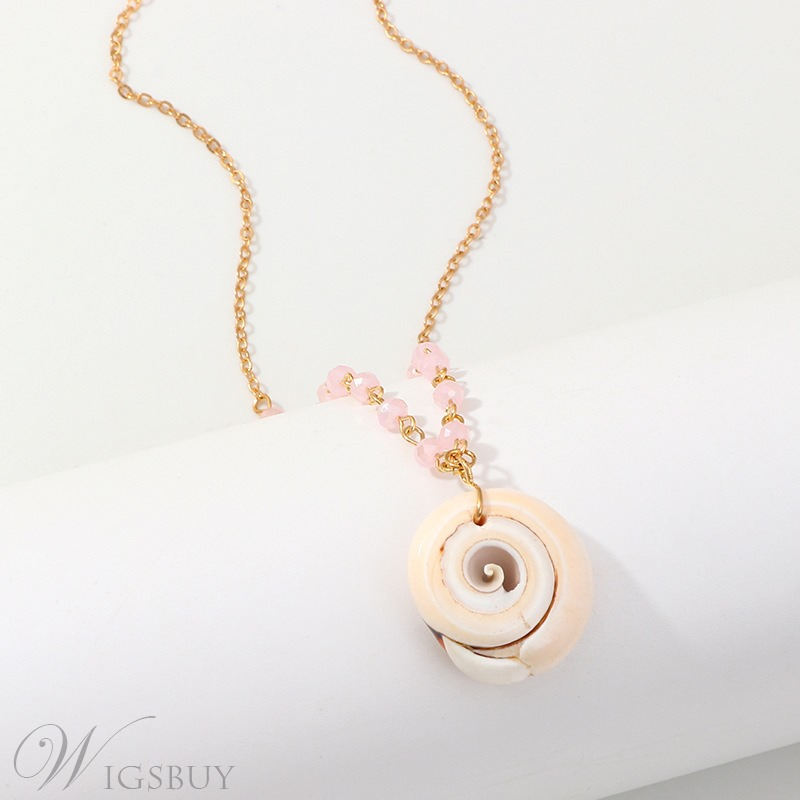 Fashion Natural Conch Beach Wind Necklace