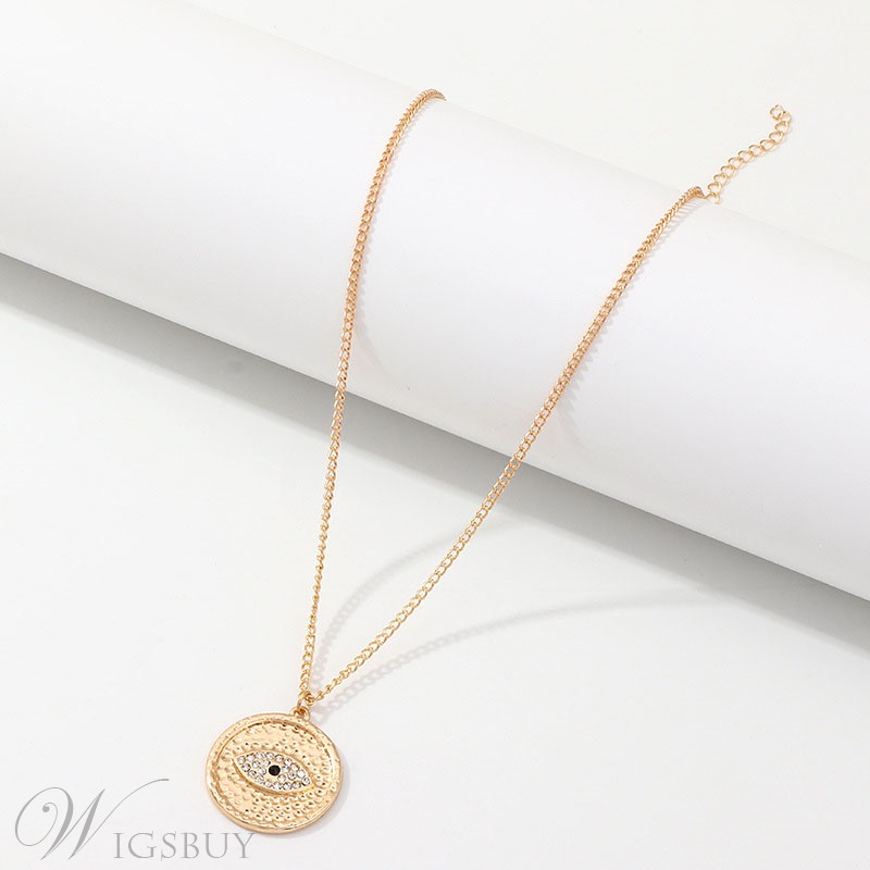Eye Golden Round Necklace