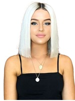 Bob Type Middle Part Synthetic Hair Straight Wig 14 Inches