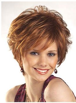 Short Layered Hairstyle Straight Synthetic Hair Wig 8 Inch