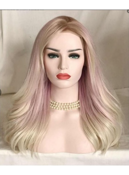 Mix Color Long Wavy Synthetic Hair Capless Wig 26 Inches